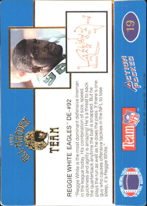 1991 Action Packed All-Madden #19 Reggie White