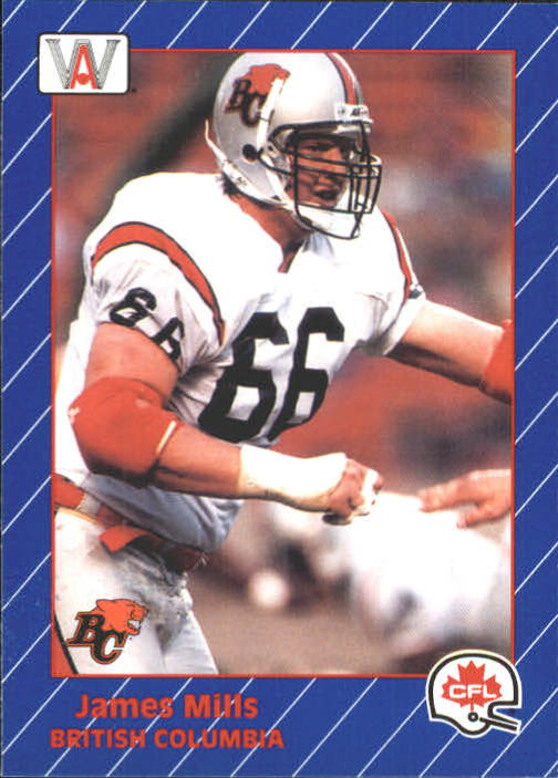 1991 All World CFL #9 James Mills