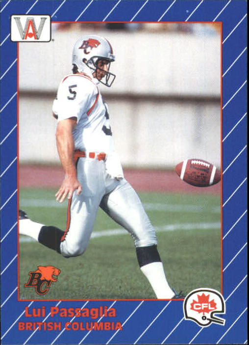 1991 All World CFL #12 Lui Passaglia