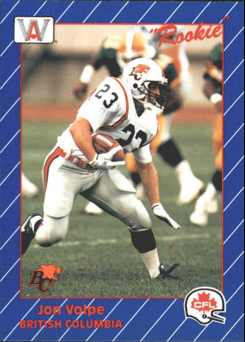 1991 All World CFL #16 Jon Volpe