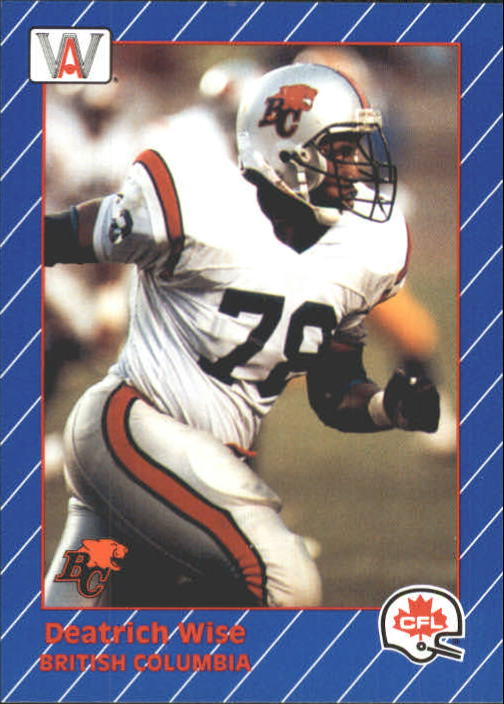1991 All World CFL #17 Deatrich Wise