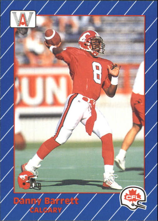 1991 All World CFL #18 Danny Barrett