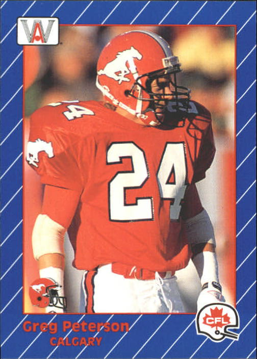 1991 All World CFL #30 Greg Peterson