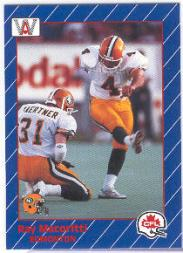 1991 All World CFL #41 Ray Macoritti