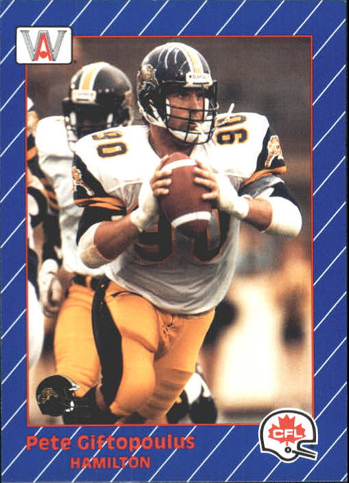 1991 All World CFL #52 Peter Giftopoulus