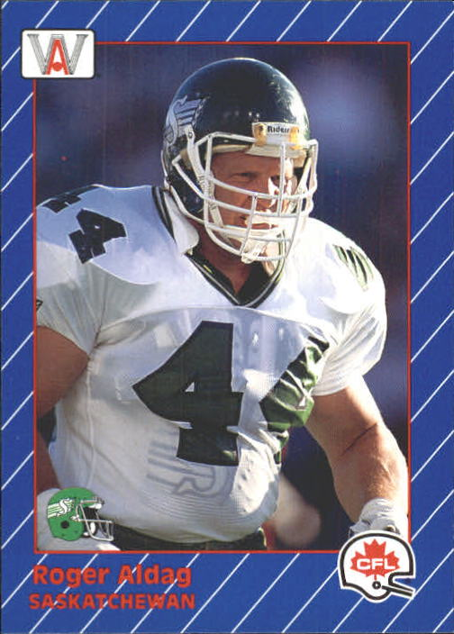 1991 All World CFL #72 Roger Aldag