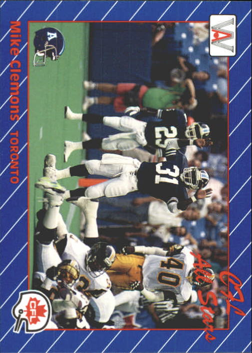 1991 All World CFL #75 Mike Clemons AS