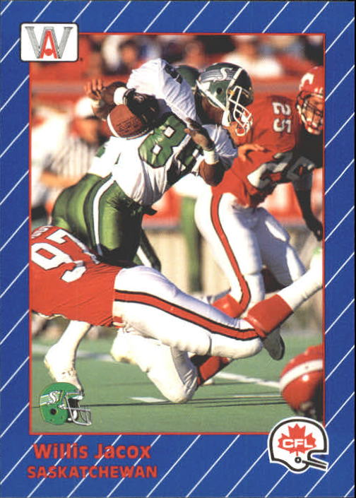 1991 All World CFL #78 Willis Jacox