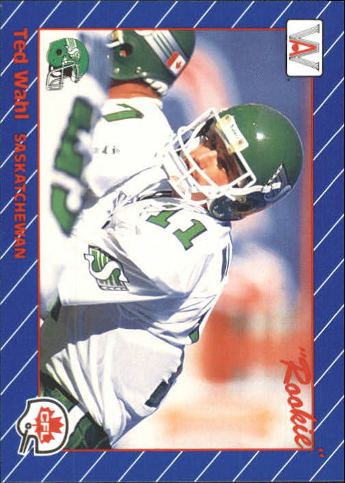 1991 All World CFL #84 Ted Wahl