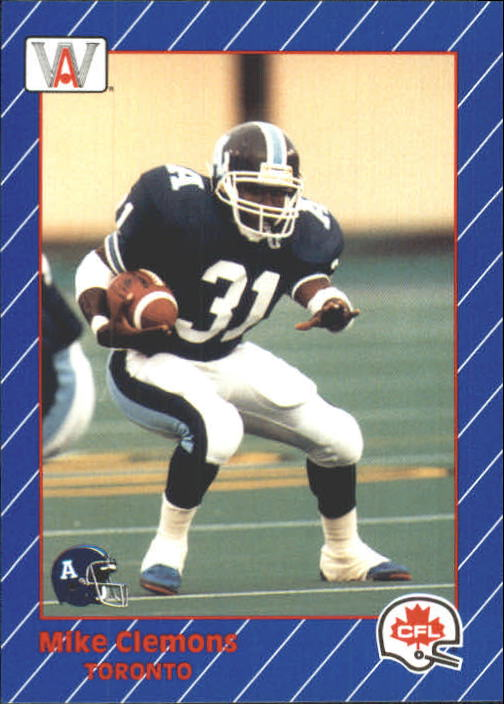 1991 All World CFL #86 Mike Clemons