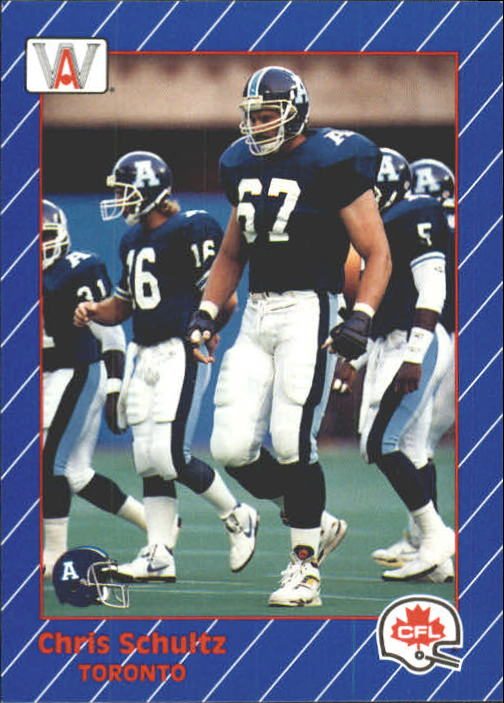 1991 All World CFL #96 Chris Schultz
