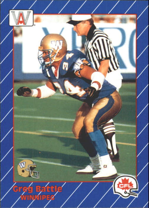 1991 All World CFL #98 Greg Battle