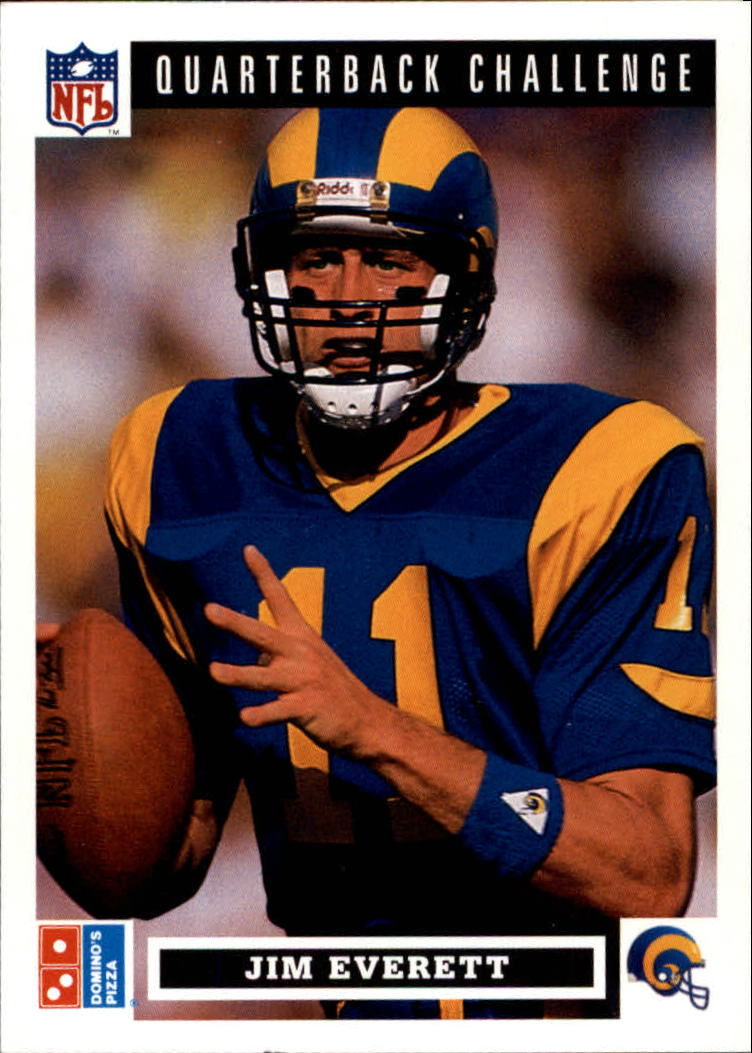 1991 Domino's Quarterbacks #13 Jim Everett