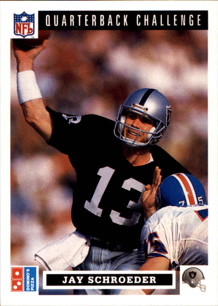 1991 Domino's Quarterbacks #14 Jay Schroeder