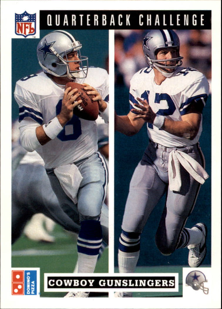 1991 Domino's Quarterbacks #47 Cowboy Gunslingers