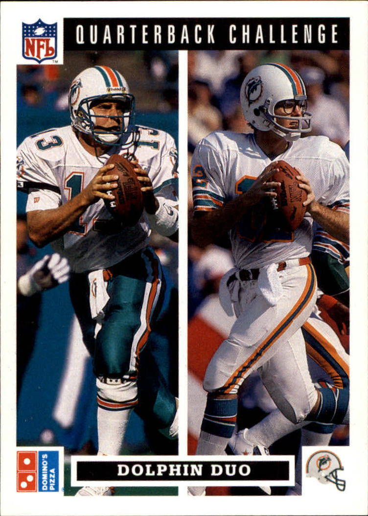 1991 Domino's Quarterbacks #49 Marino/Griese Duo