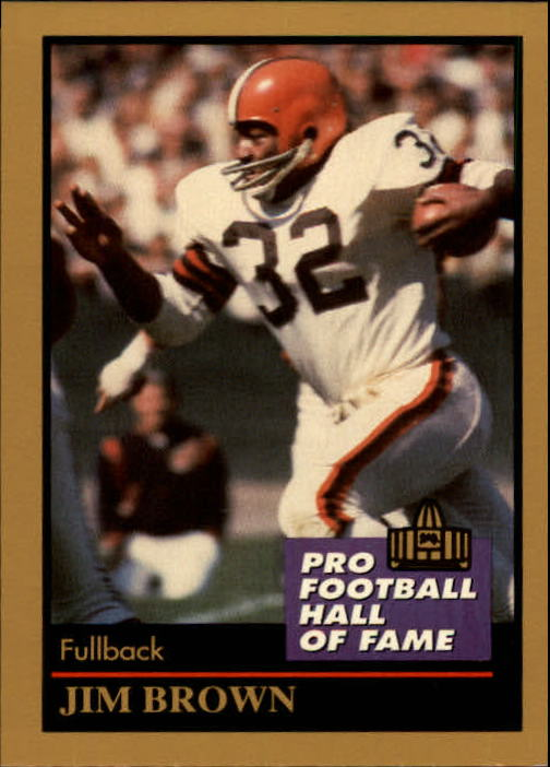 1991 ENOR Pro Football HOF #17 Jim Brown