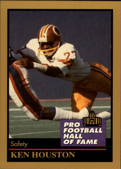 1991 ENOR Pro Football HOF #67 Ken Houston