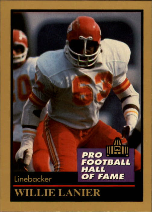 1991 ENOR Pro Football HOF #83 Willie Lanier