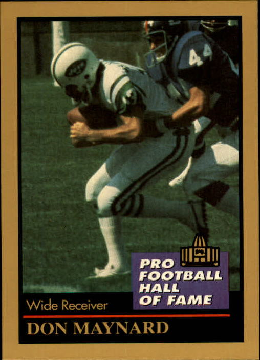 1991 ENOR Pro Football HOF #94 Don Maynard