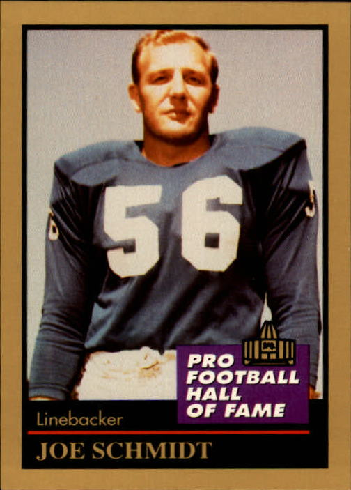 1991 ENOR Pro Football HOF #126 Joe Schmidt