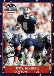 1991 Fleer Stars and Stripes #69 Troy Aikman