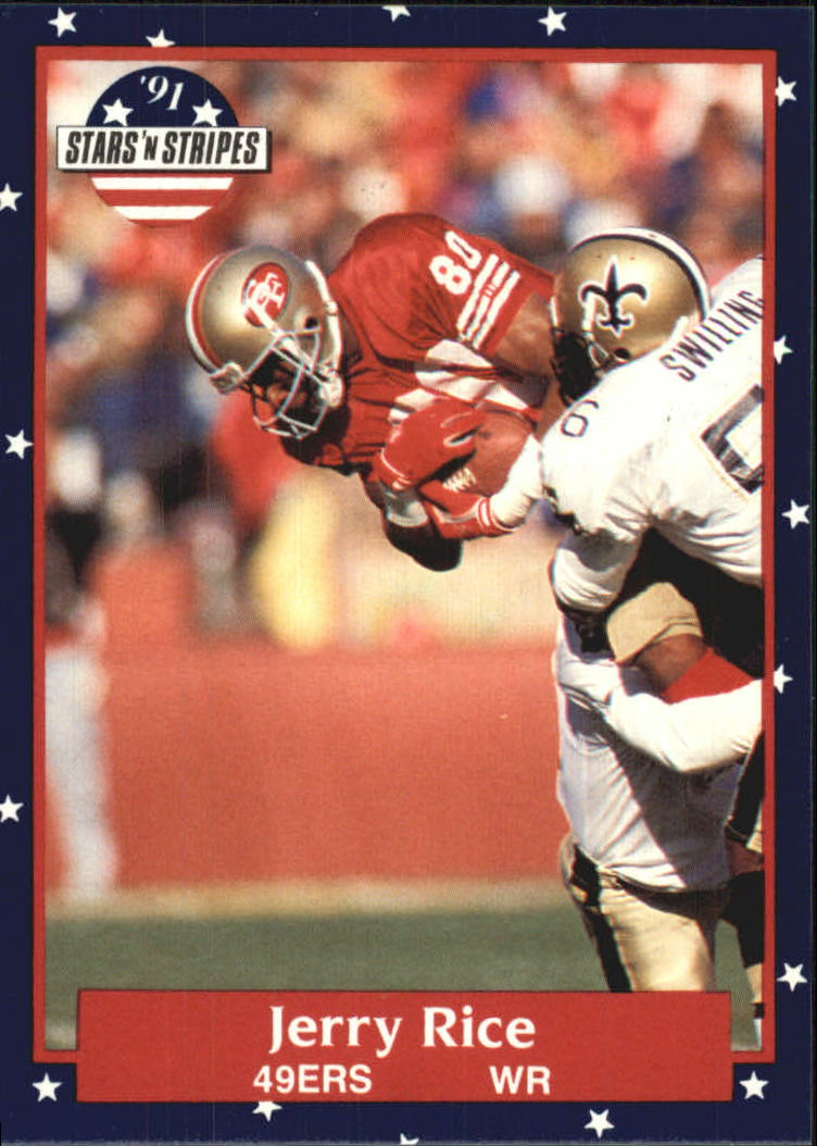 1991 Fleer Stars and Stripes #110 Jerry Rice