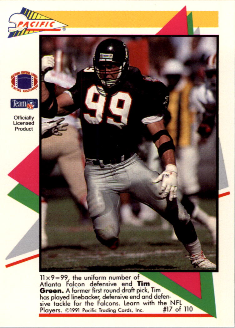 1991 Pacific Flash Cards #17 Tim Green