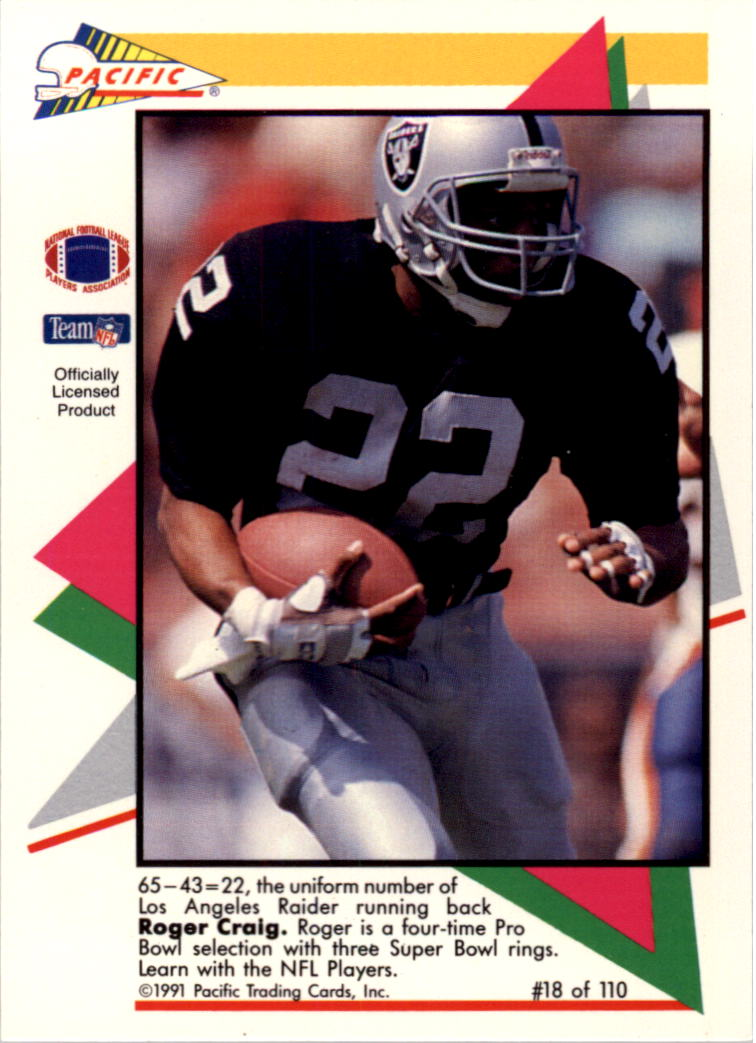 1991 Pacific Flash Cards #18 Roger Craig