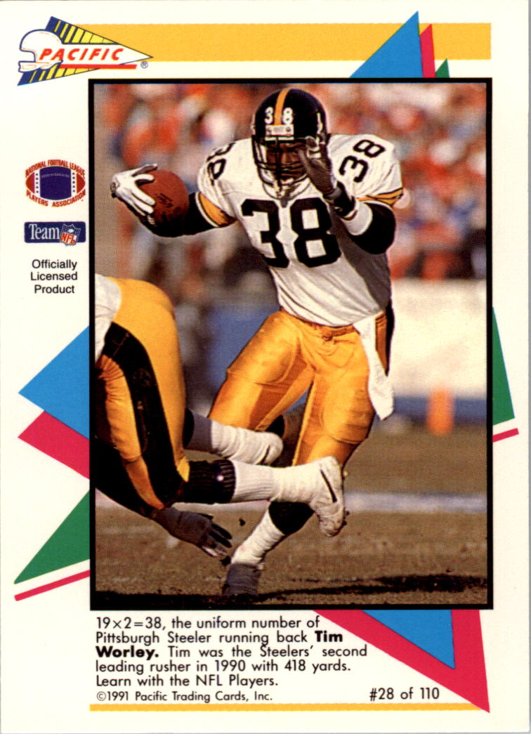 1991 Pacific Flash Cards #28 Tim Worley