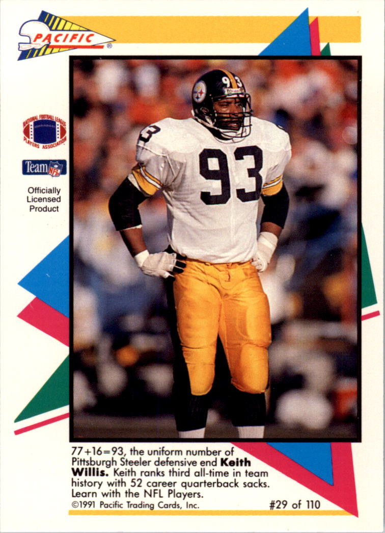 1991 Pacific Flash Cards #29 Keith Willis