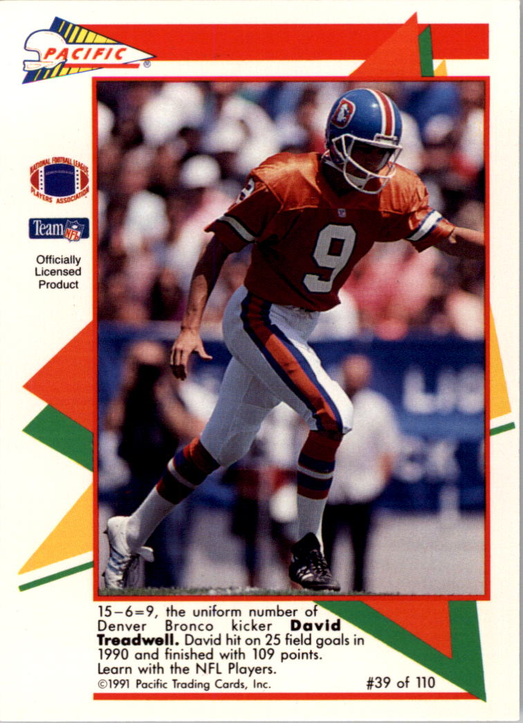 1991 Pacific Flash Cards #39 David Treadwell