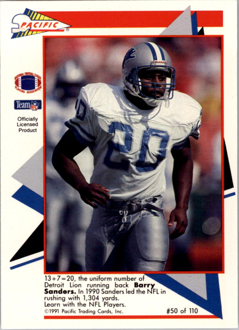 1991 Pacific Flash Cards #50 Barry Sanders