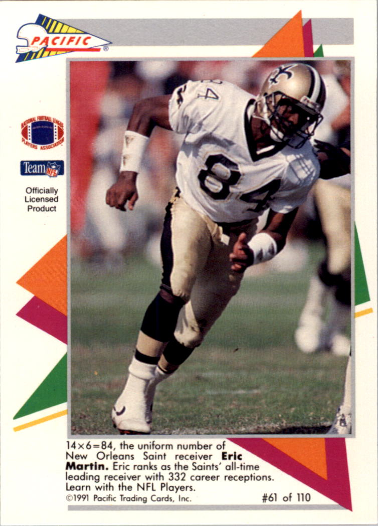 1991 Pacific Flash Cards #61 Eric Martin