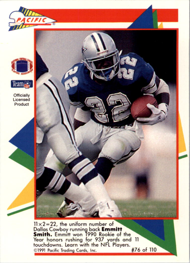 1991 Pacific Flash Cards #76 Emmitt Smith