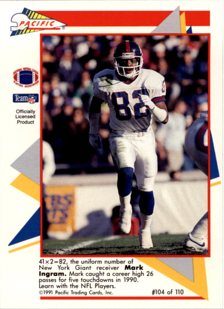 1991 Pacific Flash Cards #104 Mark Ingram