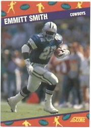1991 Score National 10 #1 Emmitt Smith