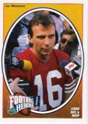 1991 Upper Deck Heroes Montana Box Bottoms #6 Joe Montana/1989 NFL's MVP