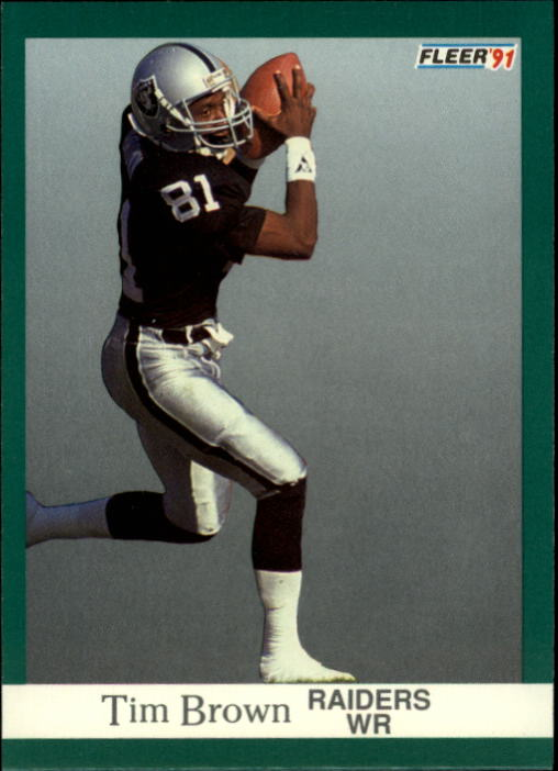 1991 Fleer #104 Tim Brown