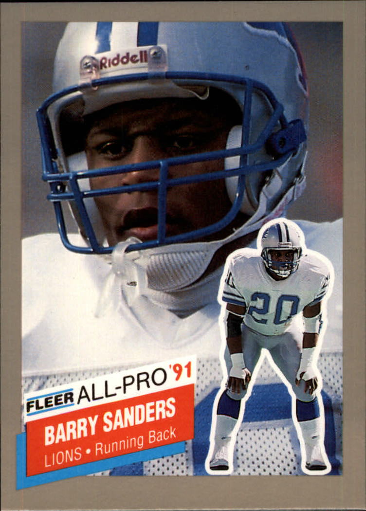 1991 Fleer All-Pros #9 Barry Sanders