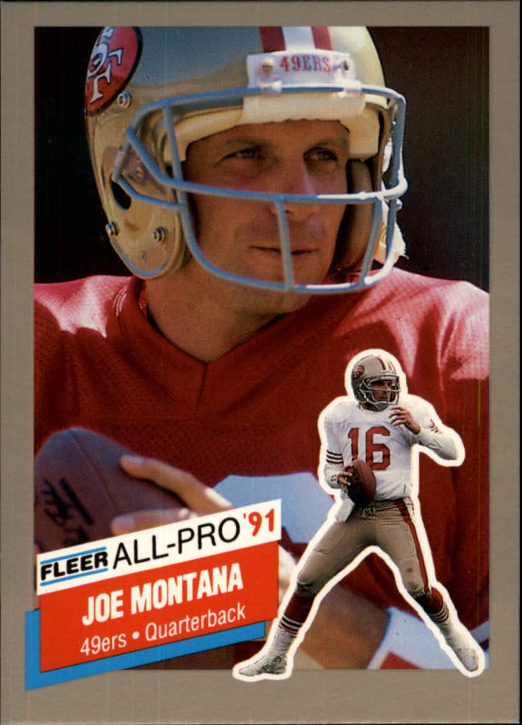 1991 Fleer All-Pros #19 Joe Montana