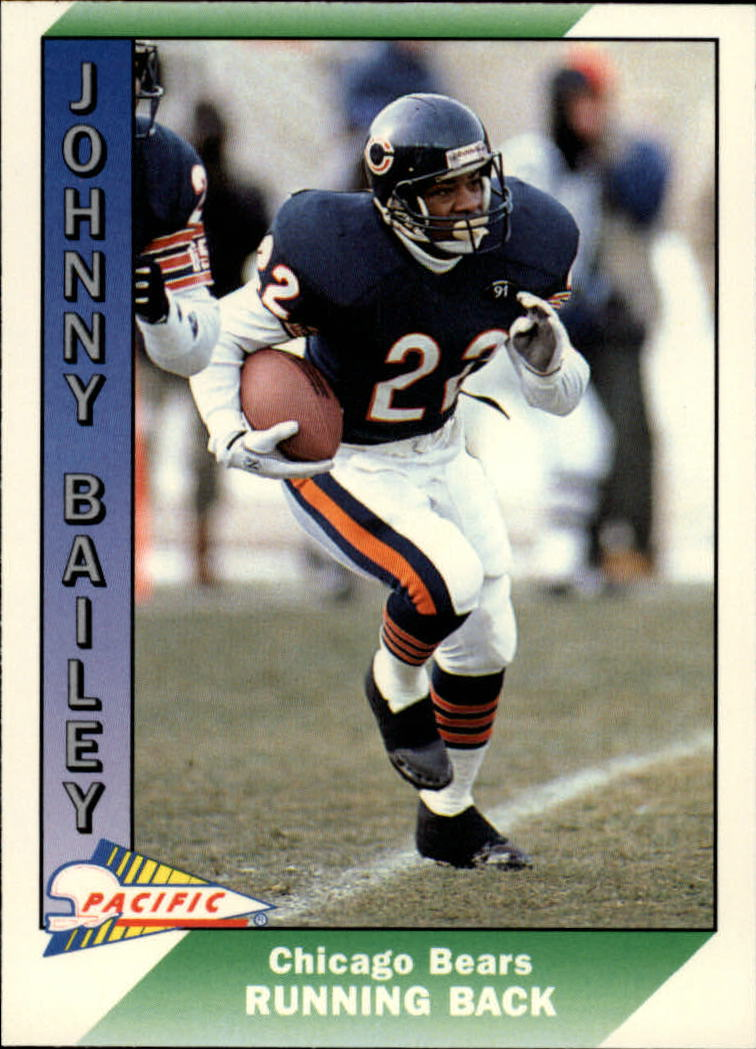 1991 Pacific #40 Johnny Bailey UER/(Gained 5320 yards in/college, should be 6320)