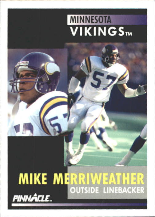 1991 Pinnacle #18 Mike Merriweather