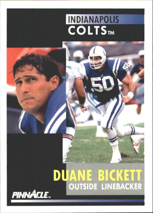 1991 Pinnacle #64 Duane Bickett