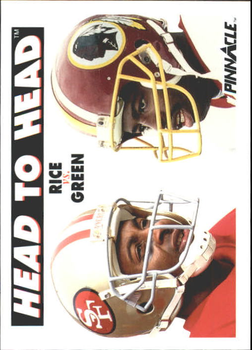 1991 Pinnacle #355 Jerry Rice/Darr.Green HH