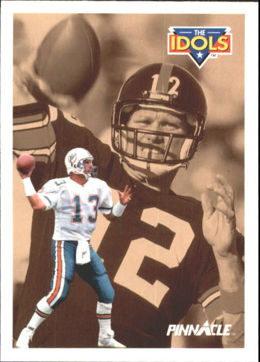 1991 Pinnacle #385 Dan Marino/Bradshaw ID