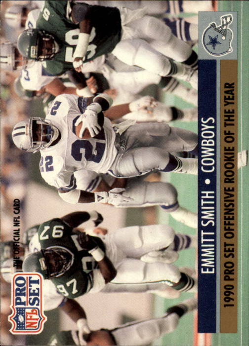 1991 Pro Set #1O Emmitt Smith O-ROY