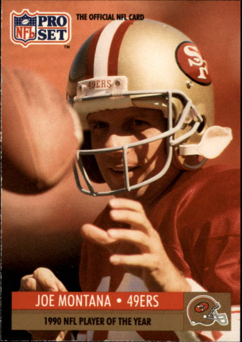 1991 Pro Set #3 Joe Montana/NFL Player of the Year