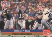1991 Pro Set #8B Jim Kelly/NFL Passing Leader/(No NFLPA logo on back)