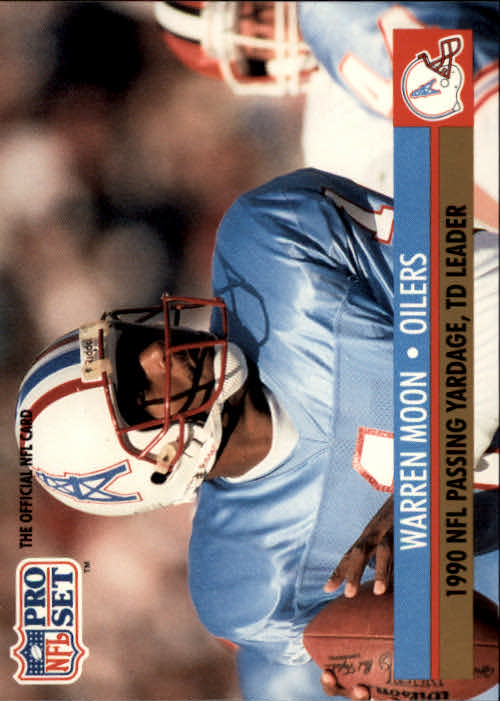 1991 Pro Set #9 Warren Moon/NFL Passing Yardage/and TD Leader